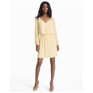 White House Black Market yellow boho dress